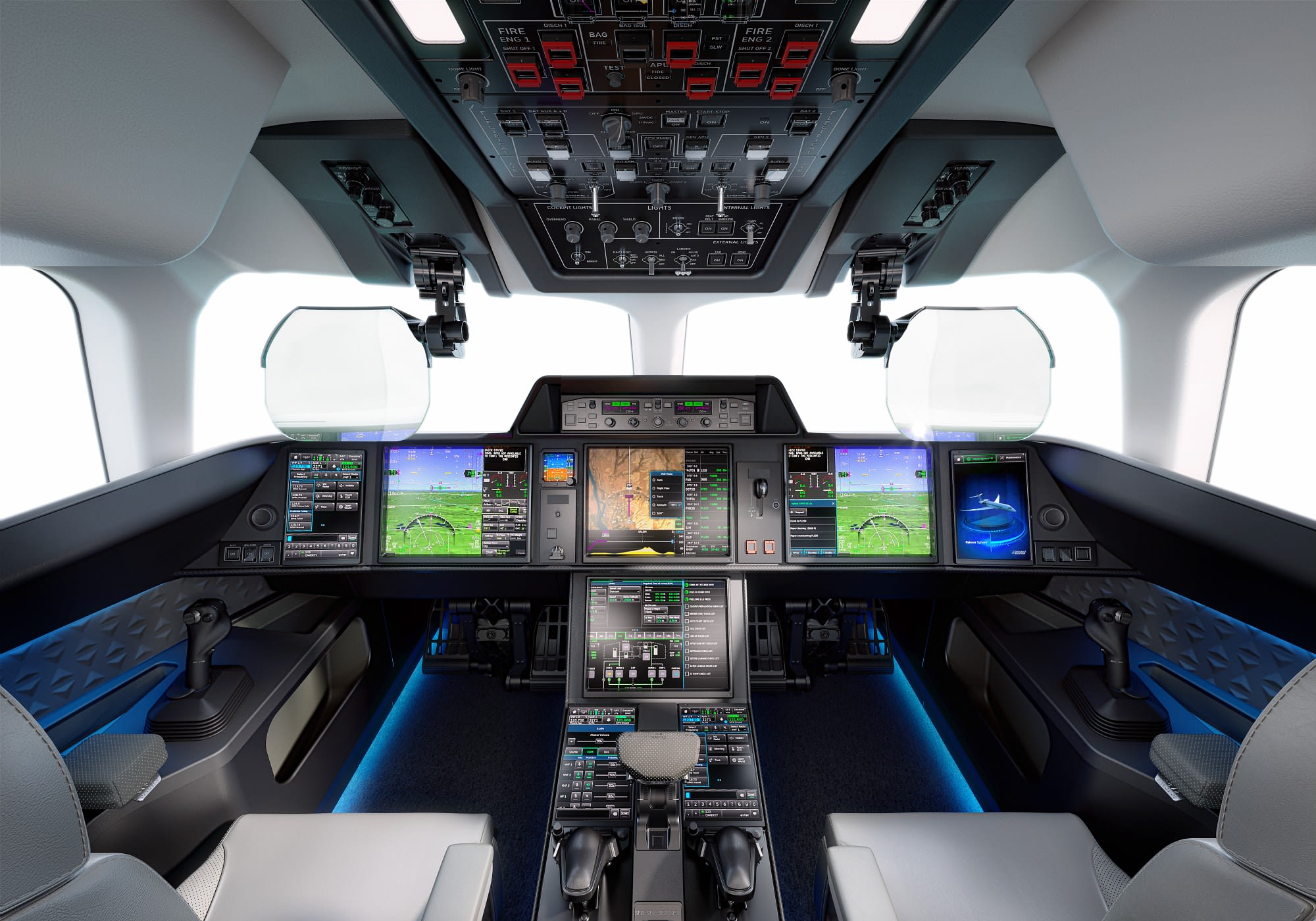 Falcon 10X's flight deck