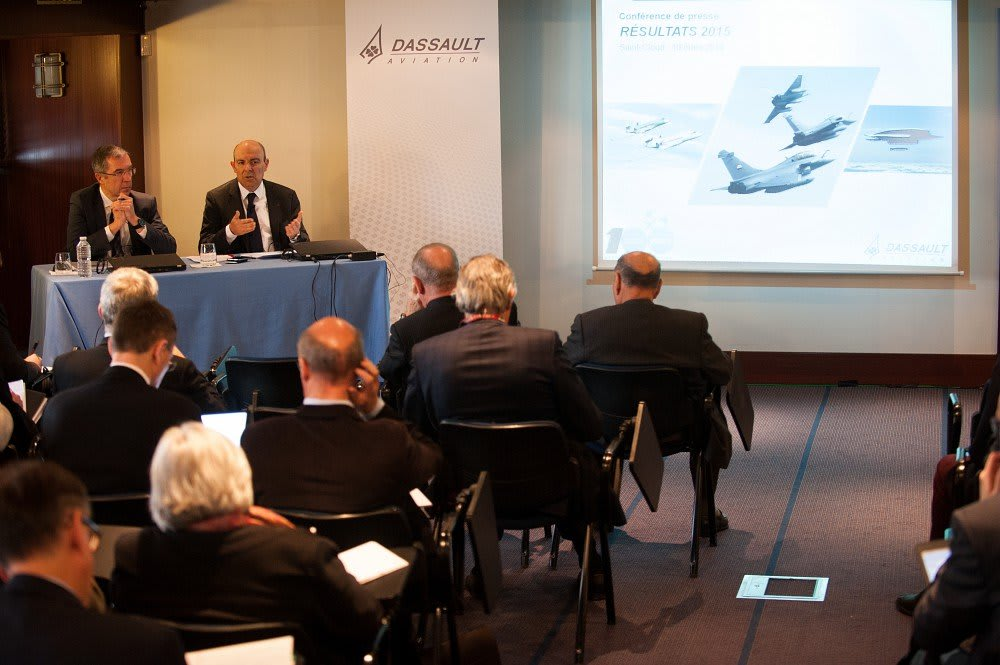 On March 10th 2016, in Saint-Cloud (France), Eric Trappier, Chairman and Chief Executive Officer of Dassault Aviation, held a press conference in order to present the year results 2015.