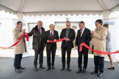 Inauguration des nouvelles installations pyrotechniques, présidée par Eric Trappier, Président-directeur général de Dassault Aviation, et Pascal Nibaudeau, directeur du site de Martignas.