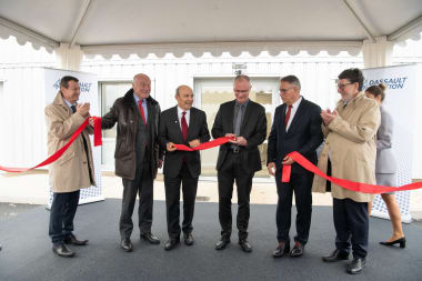 Inauguration of our new pyrotechnic facilities, led by Eric Trappier, Chairman and CEO of Dassault Aviation, along with site director Pascal Nibaudeau.