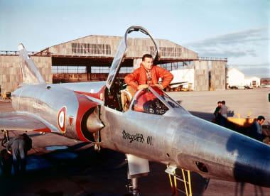 Jean Coureau à bord du Mirage III R 01
