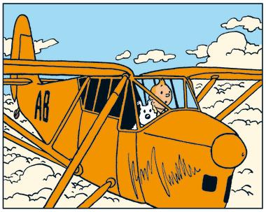 TinTin et les avions