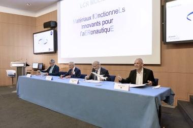 De gauche à droite : Bruno Stoufflet, Michel Deneken, Frédéric Villieras, Antoine Petit