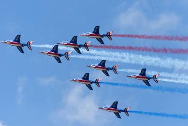 Démonstration en vol de la Patrouille de France