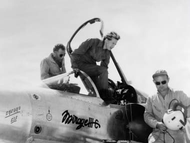 Jacqueline Auriol on board of a Mirage III C