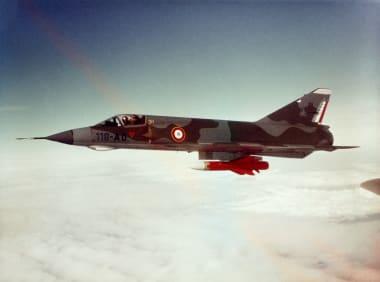 Mirage III E in flight