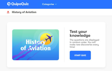 QuipoQuiz start page