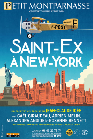 """Play: """"Saint-Ex in New York"""" poster"""