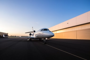 Falcon 8X on the ground